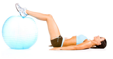 Advanced Leg Curl with Stability Ball - Step 1