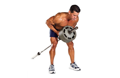 Bent Over T-Bar Rows - The Lift Position
