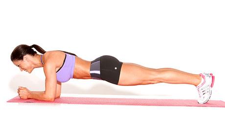 Bridge Plank on Elbows
