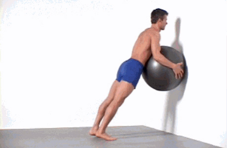 Calf Raises with a Stability Ball