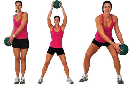 Circles with Medicine Ball Warm-up Exercise