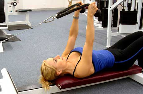 Low Cable Tricep Extension