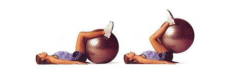 Reverse Crunch with Stability Ball for Abs