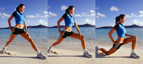 Stepping Lunges Image