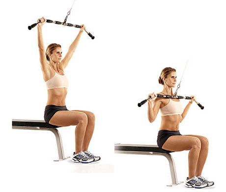Wide Grip Pulldowns - Back Exercises